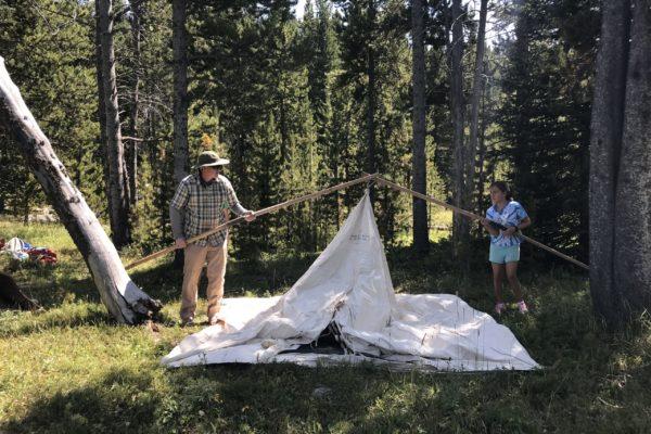 How to put up Sheridan Tent Cowboy Range Tent