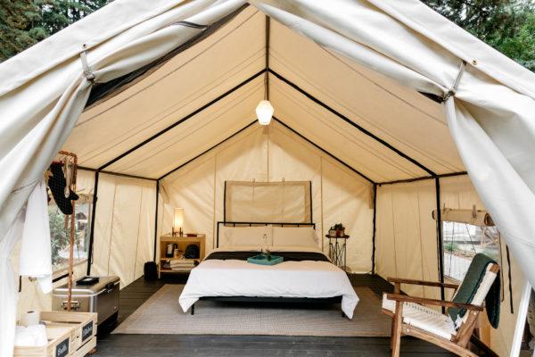 Sheridan Tent Auto Camp Custom Canvas Wall Tent daylight