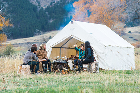 HOW TO SET UP YOUR WALL TENT &  COWBOY RANGE TENT